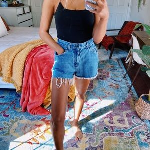 vintage distressed lee denim shorts [size 26]